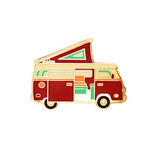 Lost Lust Supply Enamel Pin - Camper Van - Red