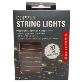 Kikkerland Copper String Lights - Battery