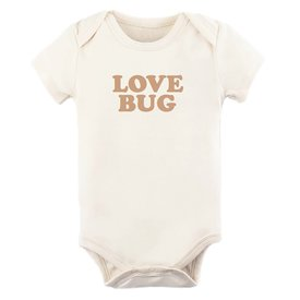 Tenth & Pine Tenth & Pine Short Sleeve Bodysuit - Love Bug - Clay