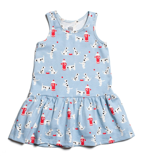 Winter Water Factory Winter Water Factory Valencia Dress - Dalmatians Blue