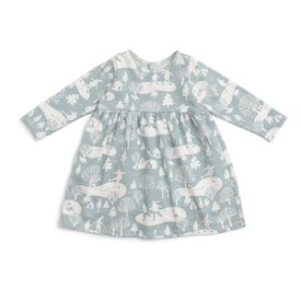 Winter Water Factory Winter Water Factory Geneva Baby Dress - On The Ice - Pale Blue