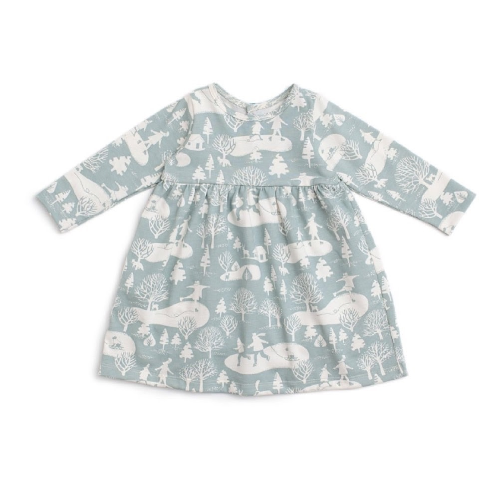 Winter Water Factory Geneva Baby Dress - On The Ice - Pale Blue