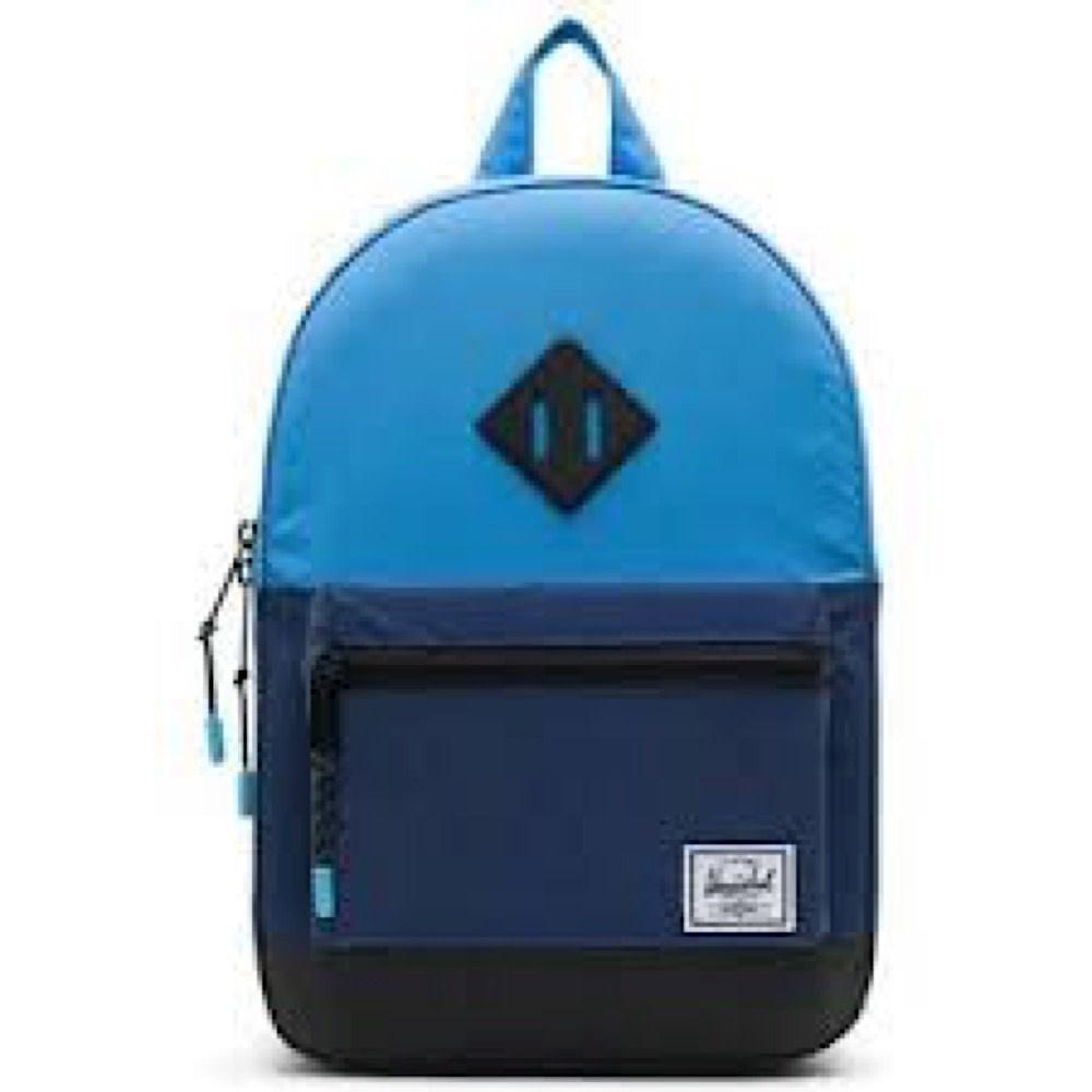 Herschel Heritage Youth XL Reflective Backpack - Medieval Blue Crosshatch/Light Grey Crosshatch/Alaskan Blue
