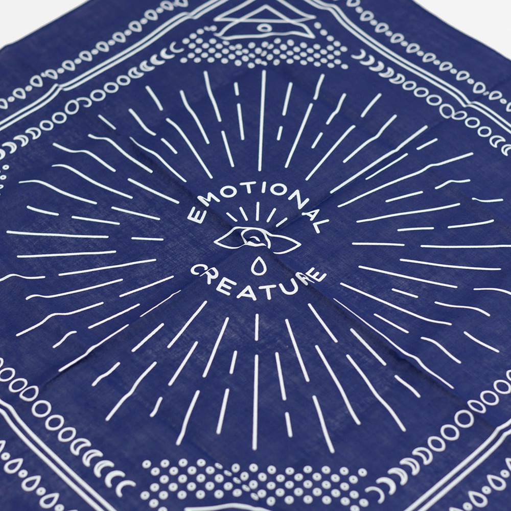 Notes To Self - Emotional Creature Bandana - Navy