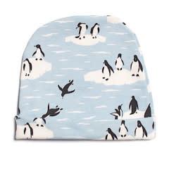 Winter Water Factory Baby Hat - Penguins Winter Blue