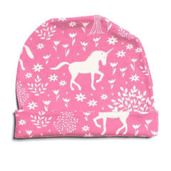 Winter Water Factory Winter Water Factory Baby Hat - Magical Forest Pink