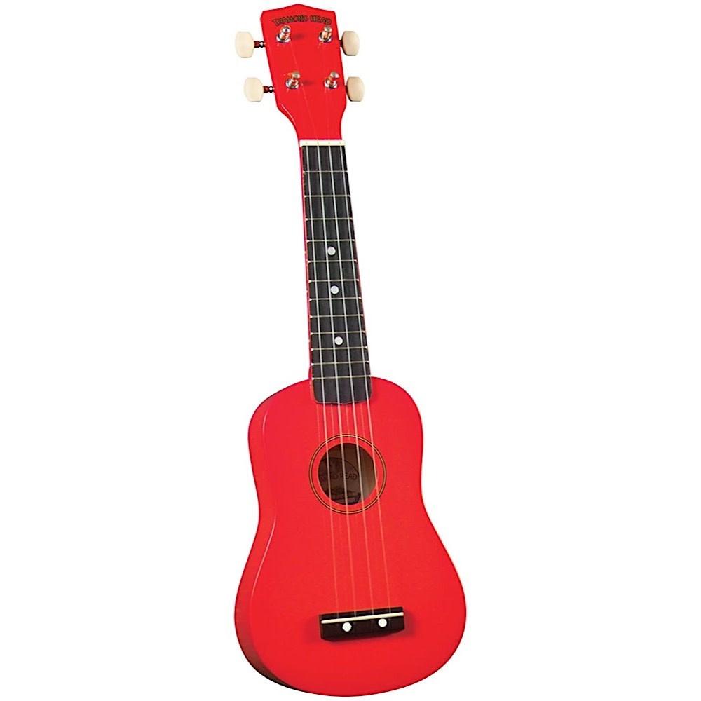 Saga Musical Instruments Diamond Head Ukulele - Red