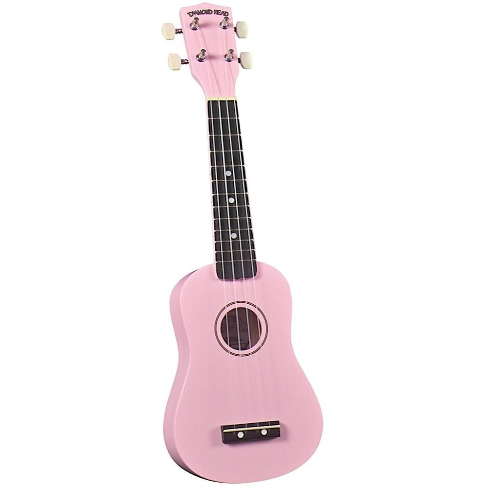 Saga Musical Instruments Diamond Head Ukulele - Pink
