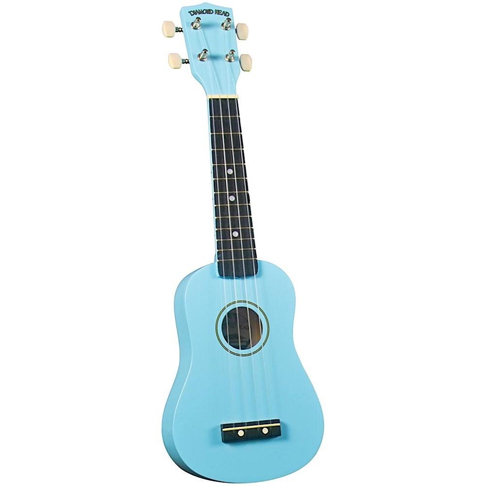 Saga Musical Instruments Diamond Head Ukulele - Light Blue