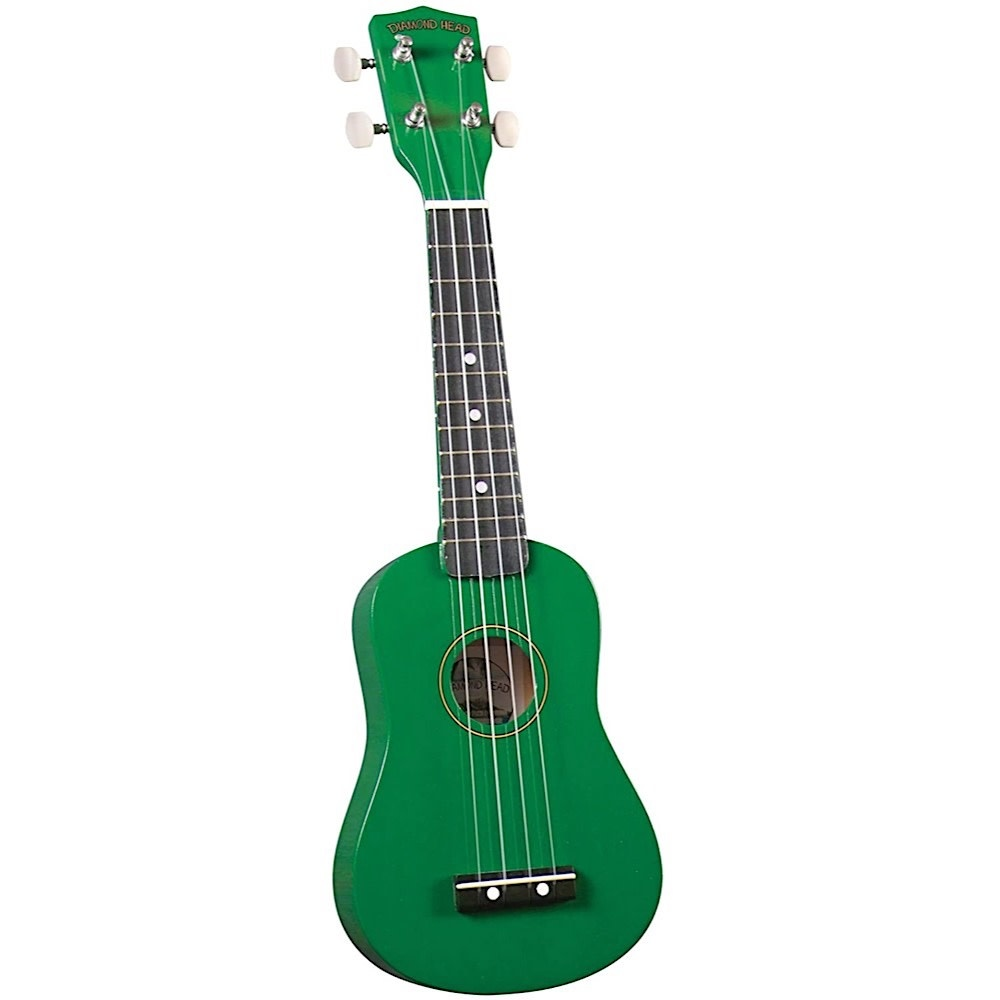 Saga Musical Instruments Diamond Head Ukulele - Green
