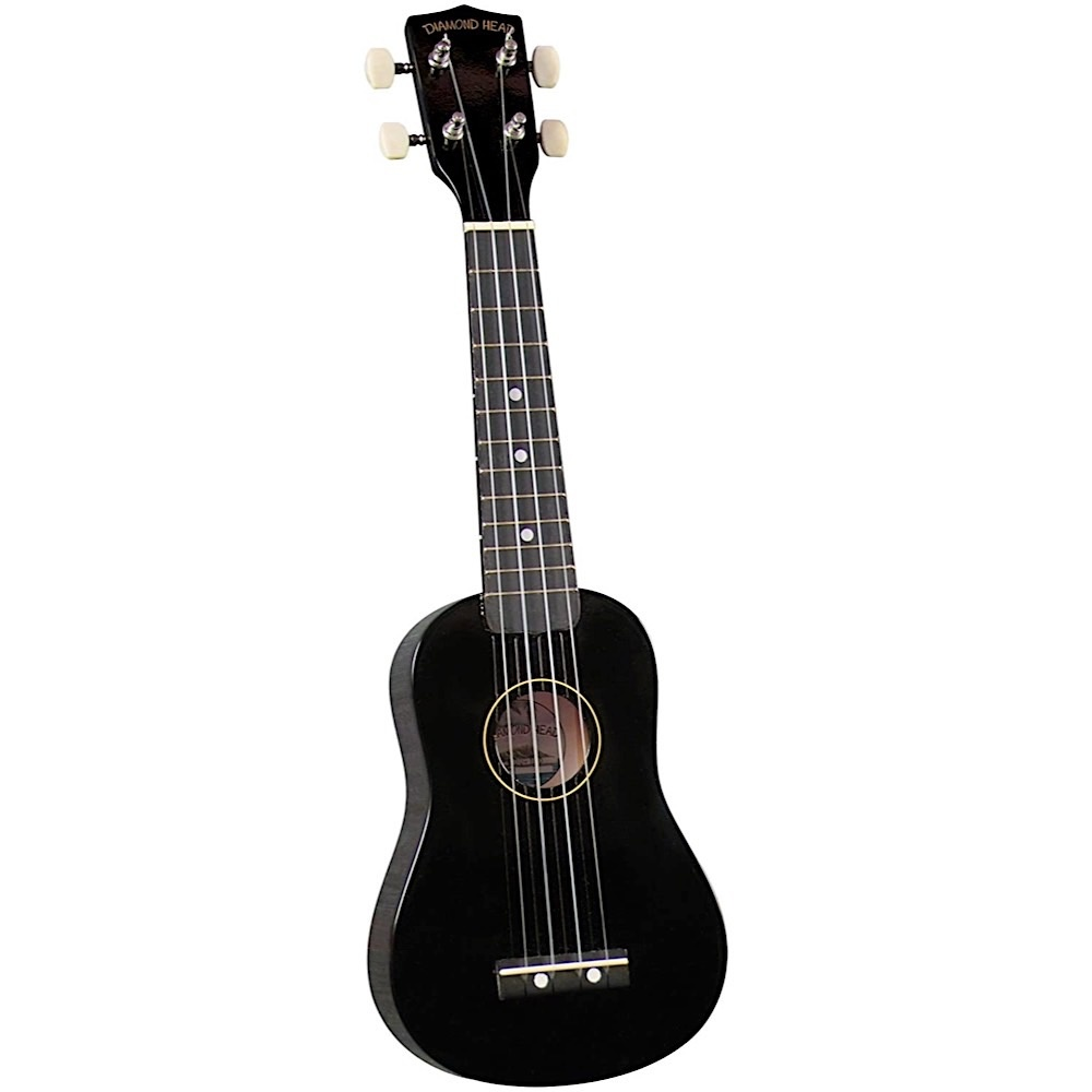 Saga Musical Instruments Diamond Head Ukulele - Black