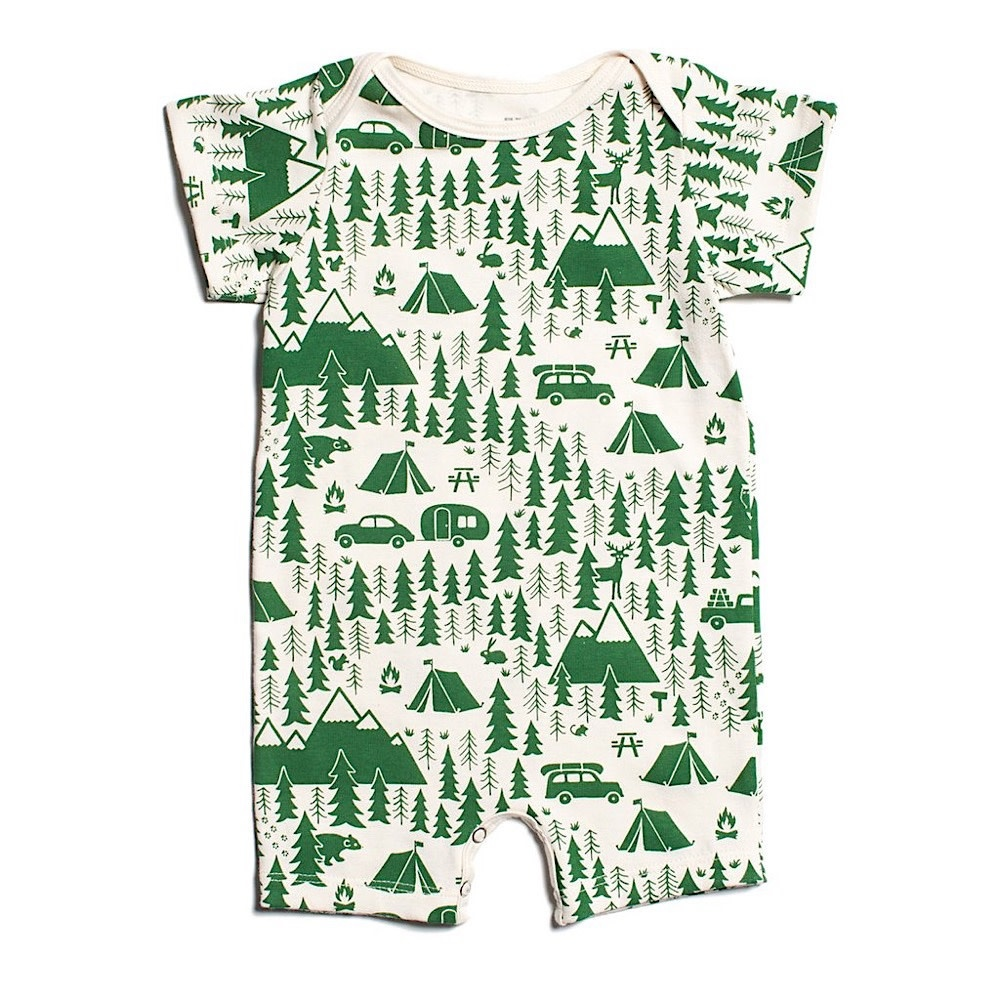 Winter Water Factory Winter Water Factory Summer Romper - Campground Green