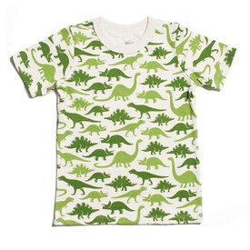 Winter Water Factory Winter Water Factory Short Sleeve Tee - Dinosaurs Green