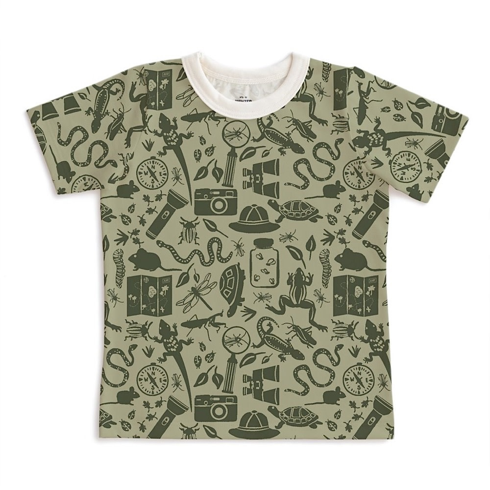 Winter Water Factory Winter Water Factory Short Sleeve Tee - Nature Explorer Sage & Forest Green