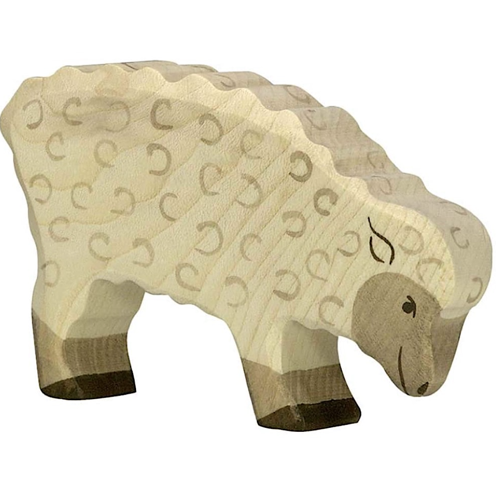 Holztiger Wooden Sheep Feeding
