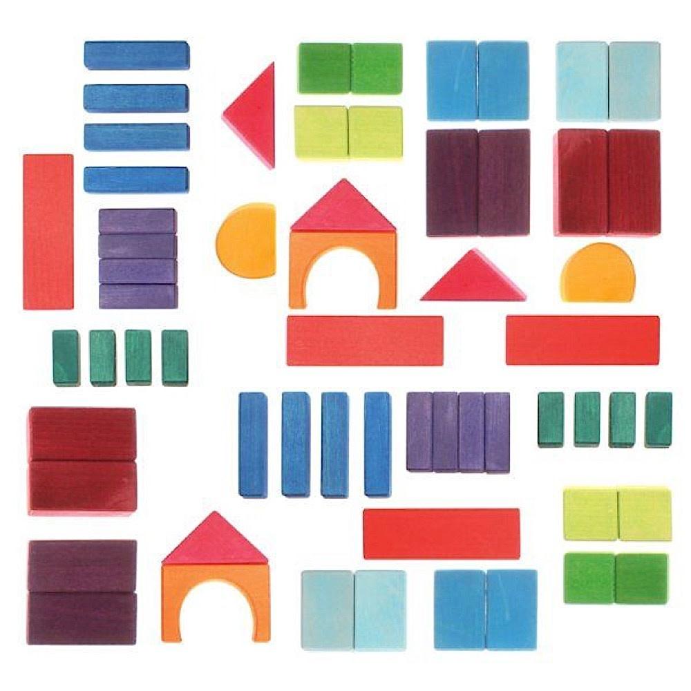 Grimms Grimms 60 Colored Geo-blocks