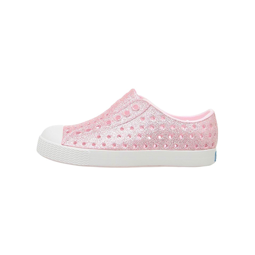 Native Shoes Jefferson Child - Milk Pink Bling/Shell White