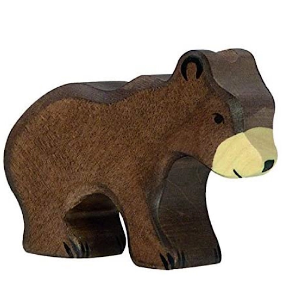 Holztiger Wooden Brown Bear Small