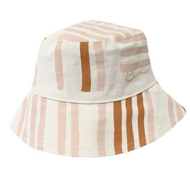 Erin Flett Erin Flett Bucket Hat - Dusty Pink Grid - Onesize