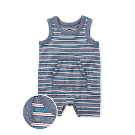 Tea Collection Tea Collection Kanga Pocket Tank Romper - Scuba