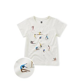Tea Collection Tea Collection Olympic Gymnastics Tee - Chalk
