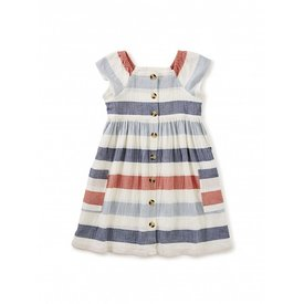 Tea Collection Tea Collection Pull-Over Button Front Dress - Birch