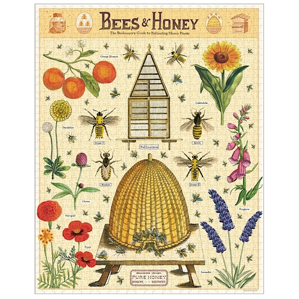 Cavallini Jigsaw Puzzle - Bees & Honey - 1000 Pieces