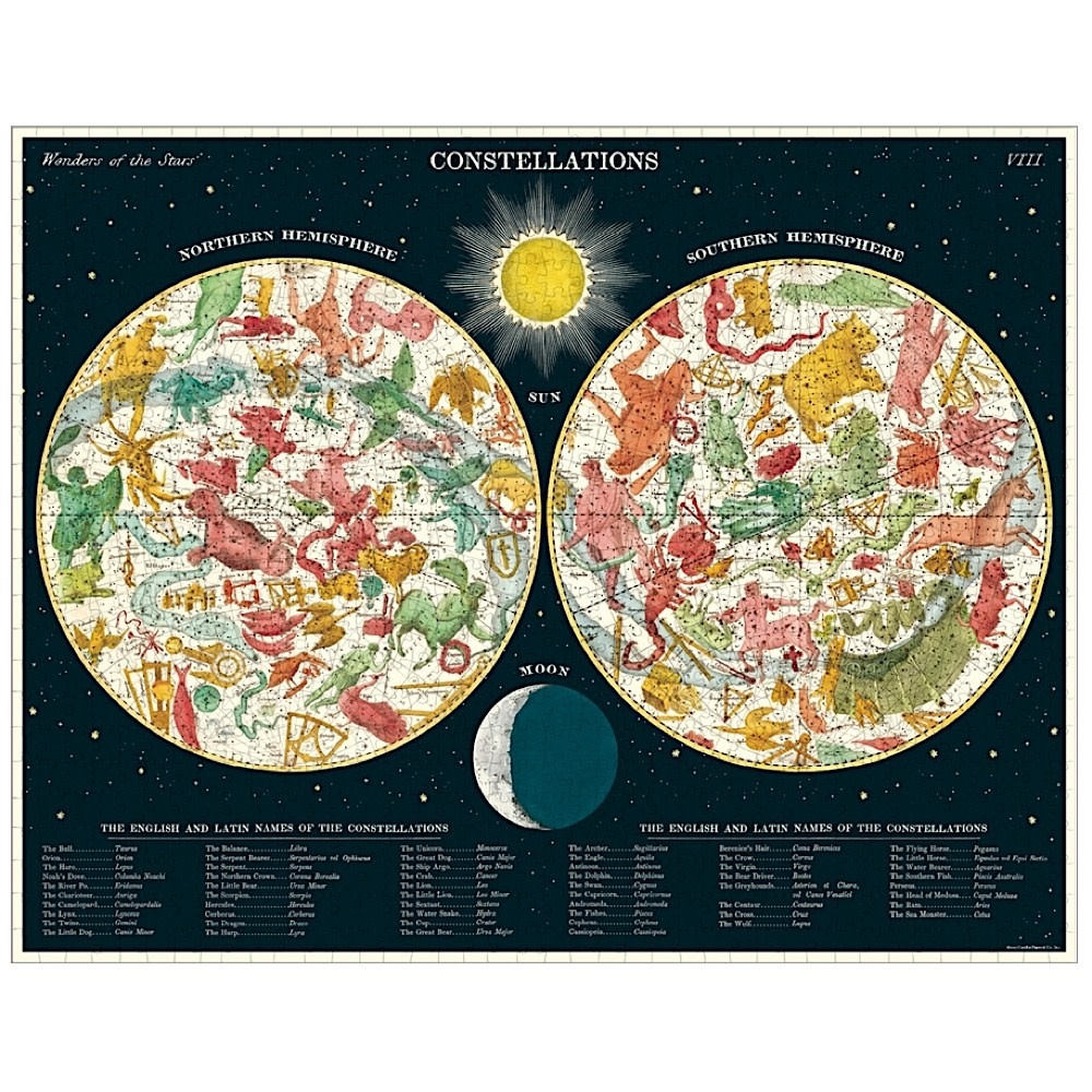 Cavallini Jigsaw Puzzle - Constellations - 1000 Pieces