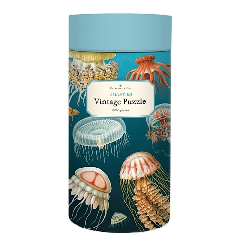 Cavallini Papers & Co., Inc. Cavallini Jigsaw Puzzle - Jellyfish - 1000 Pieces