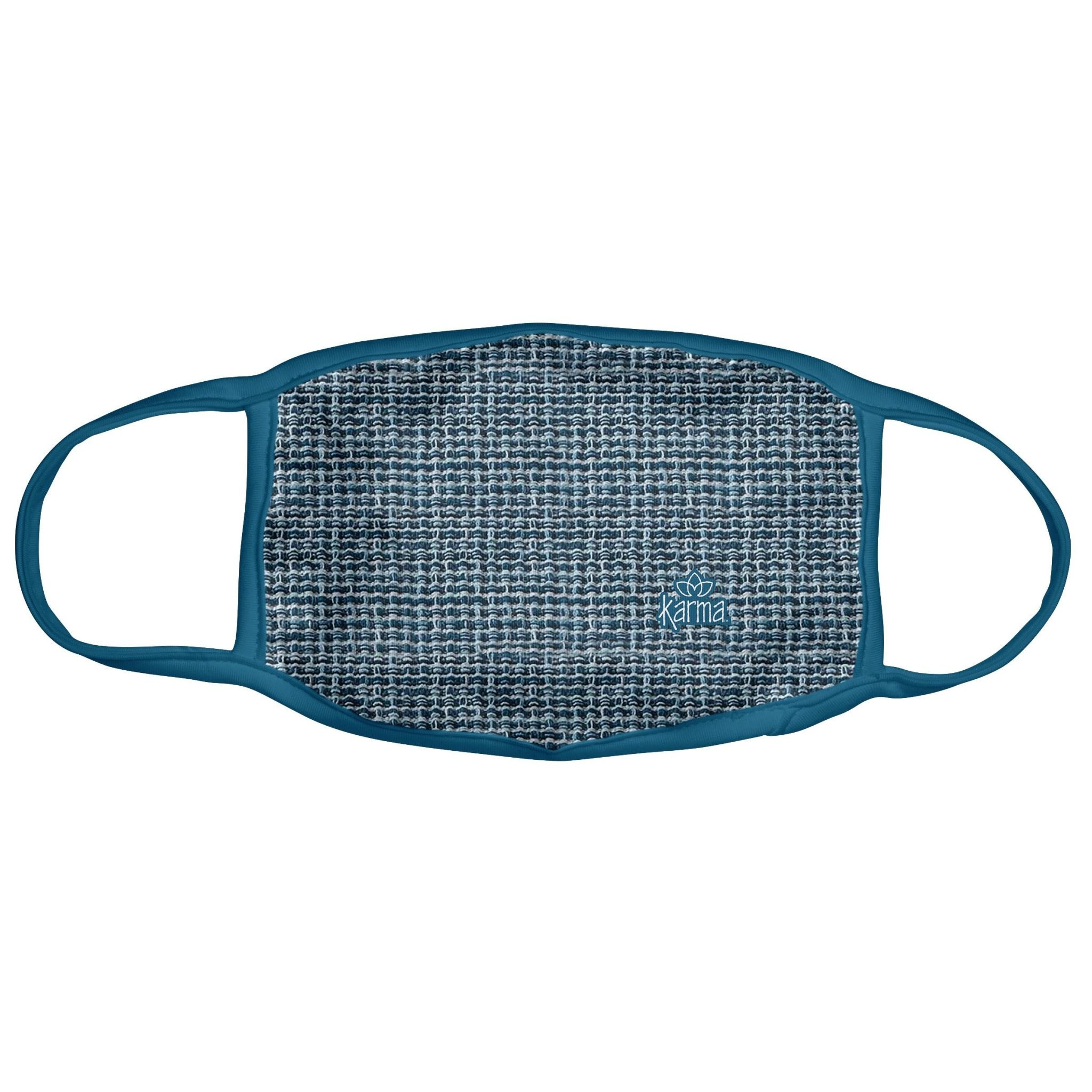 Karma Face Mask - Adult - Blue Basket Weave