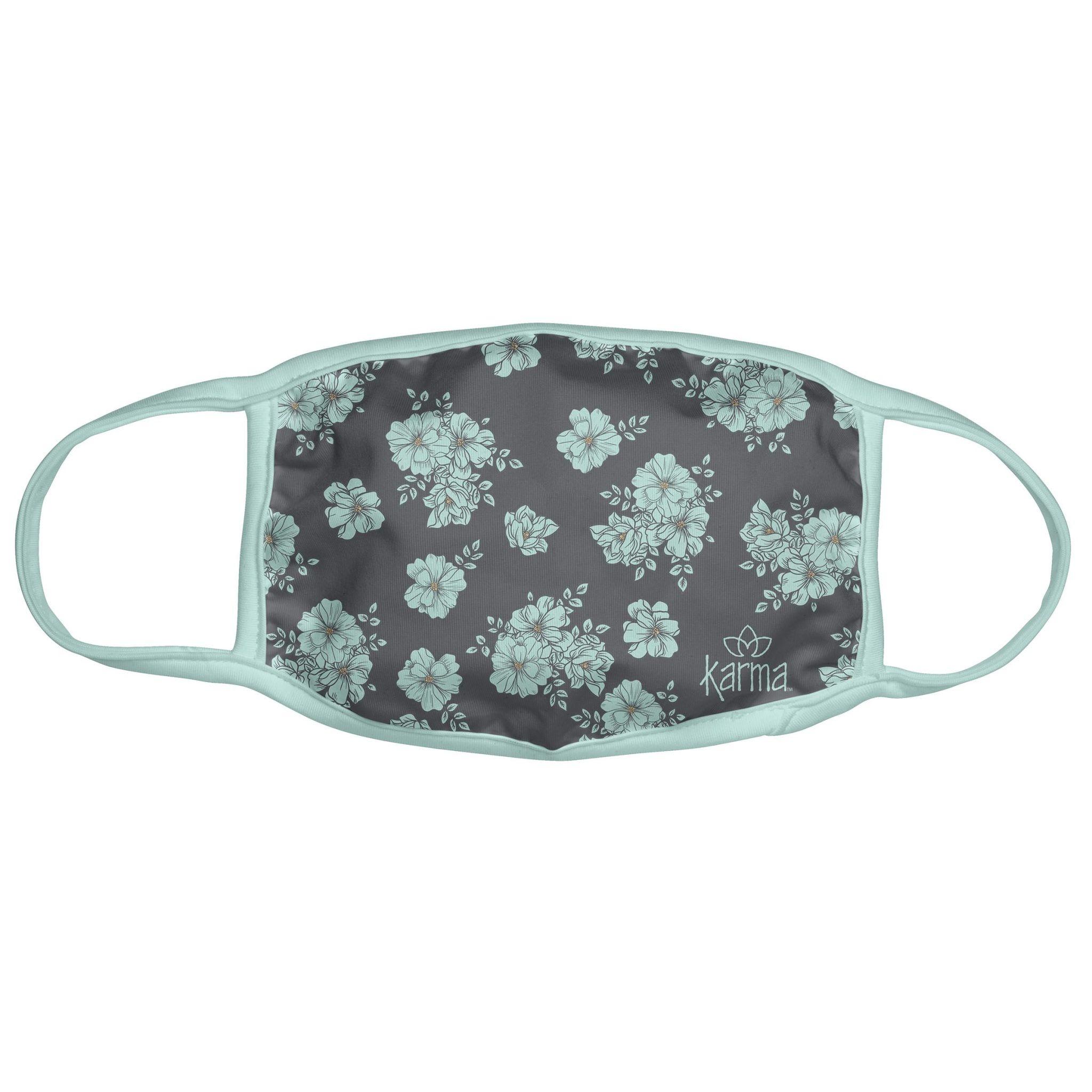Karma Karma Face Mask - Adult - Blue Floral