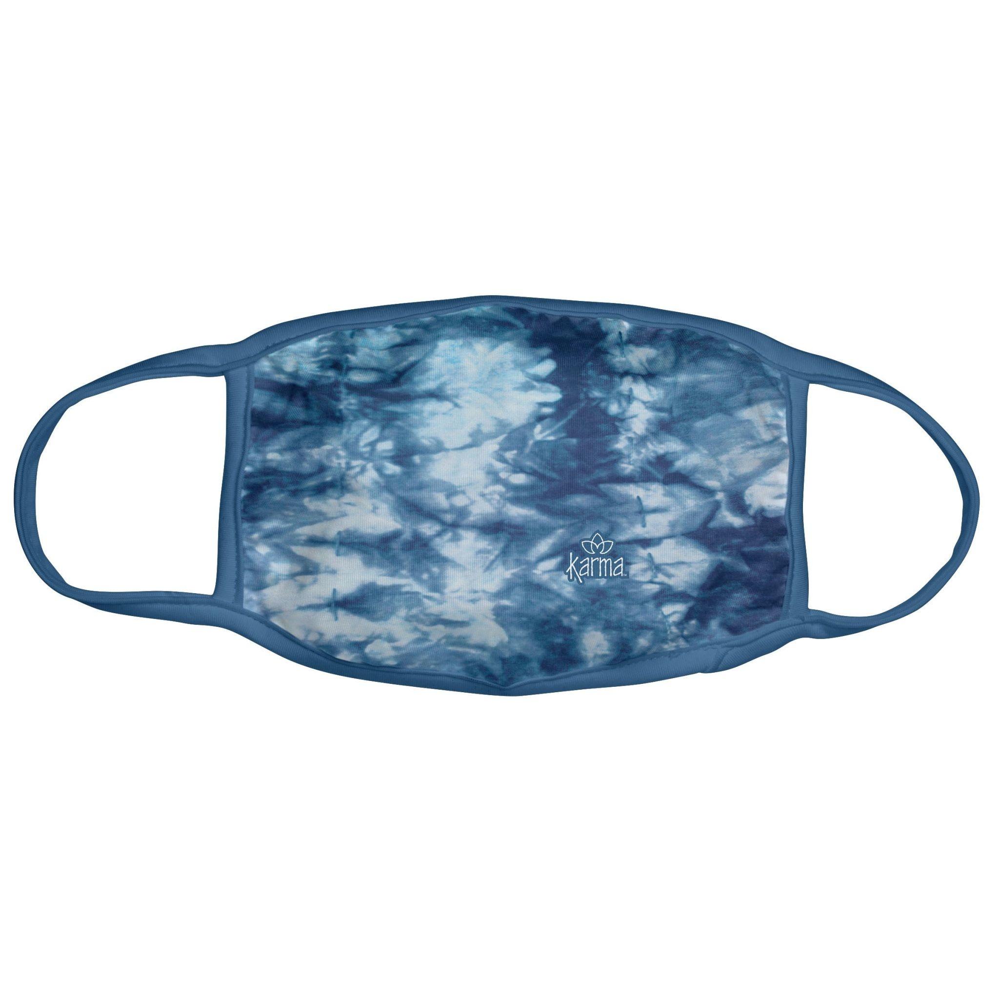 Karma Face Mask - Adult - Blue Tie Dye