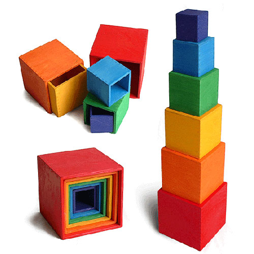 Grimms Large Set of 6 Boxes - Rainbow