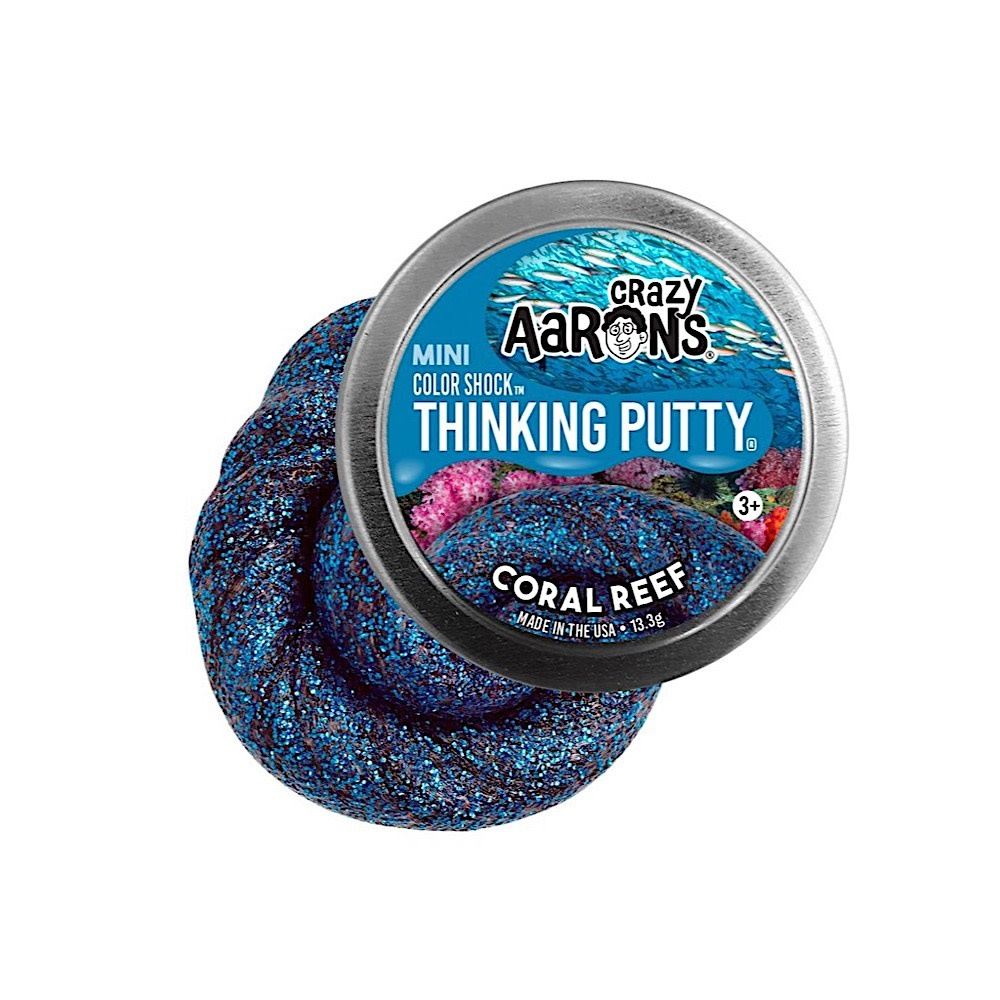 """Crazy Aaron Crazy Aaron's Thinking Putty Mini - 2"""" - Coral Reef"""