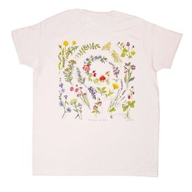 Liberty Graphics Liberty Graphics Adult Ladies Organic Fitted Tee - Beneficial Herbs