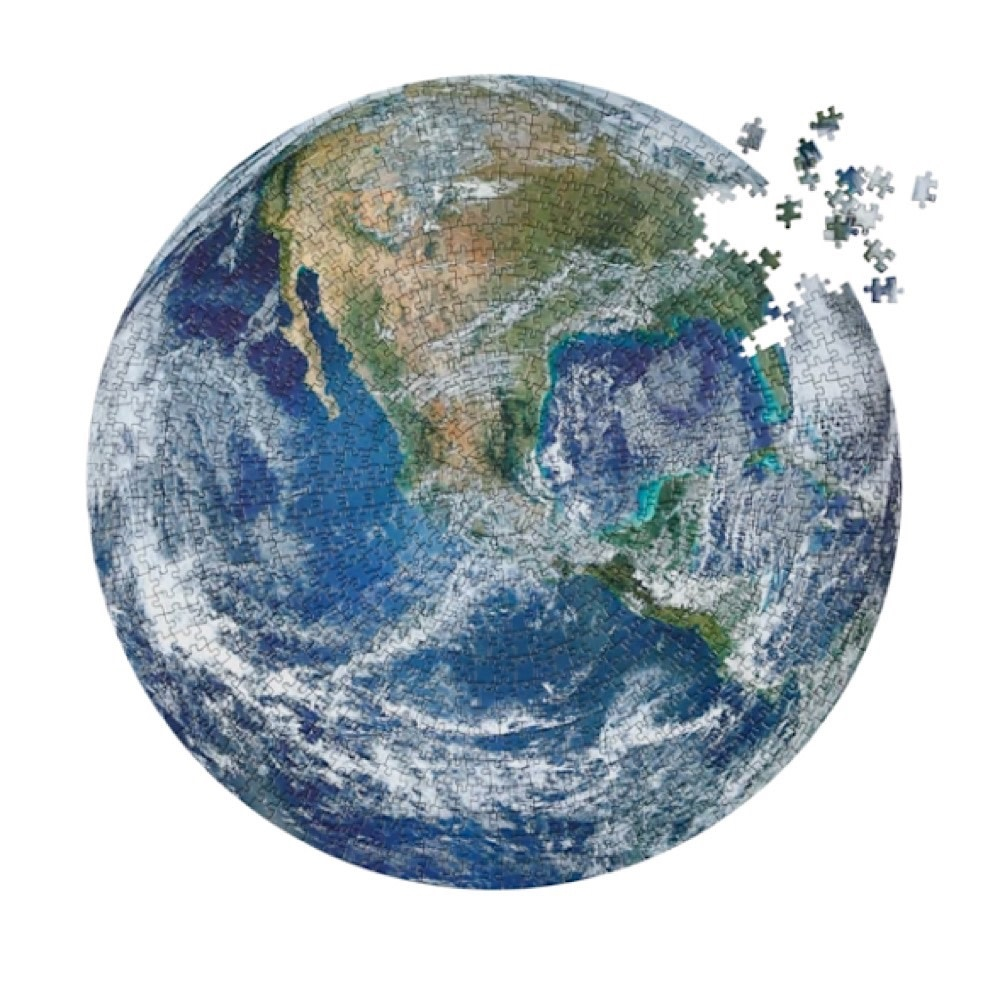 The Earth Circular Jigsaw Puzzle - 1000 Piece