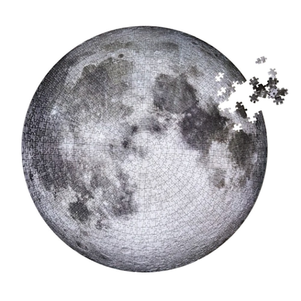 The Moon Circular Jigsaw Puzzle - 1000 Piece