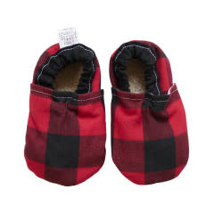 Two Little Beans Baby Booties - Buffalo Plaid