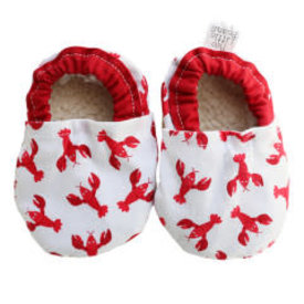 Two Little Beans and Co. Two Little Beans Baby Booties - Lobster