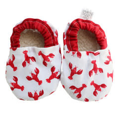 Two Little Beans Baby Booties - Lobster