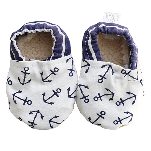 Two Little Beans Baby Booties - Nautical