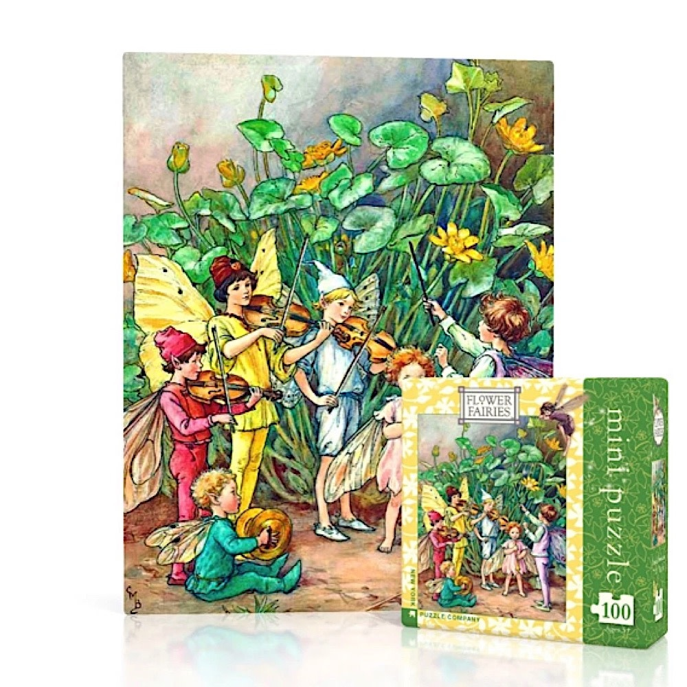 New York Puzzle Co - Fairies Orchestra - 100 Piece Mini Jigsaw Puzzle