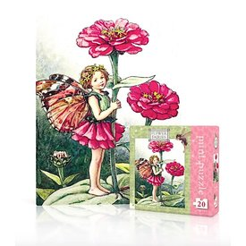 New York Puzzle Co. New York Puzzle Co - Zinnia Fairy - 20 Piece Mini Jigsaw Puzzle