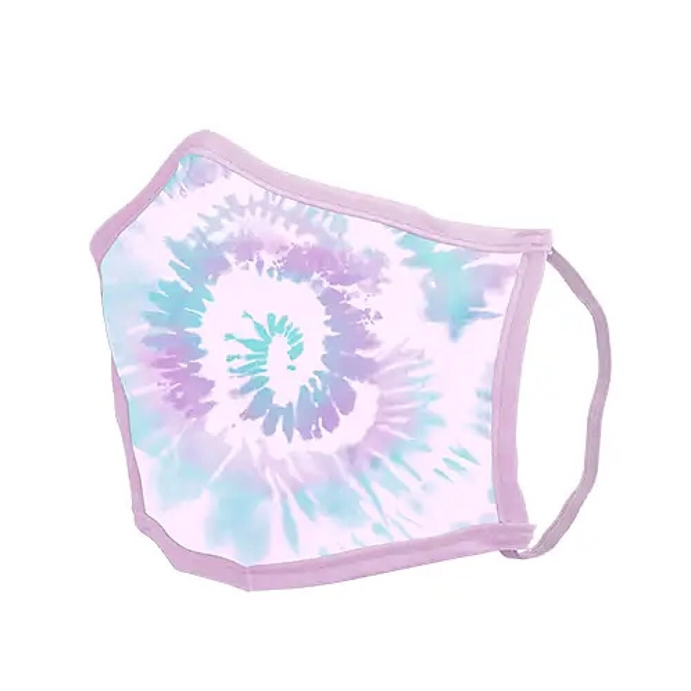 Talking Out of Turn Face Mask - Tie Dye Lilac Spiral - Medium