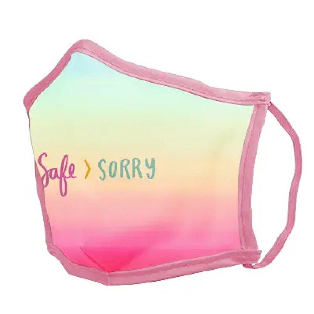 Talking Out of Turn Talking Out of Turn Face Mask - Safe Sorry - Small
