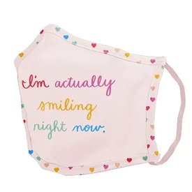 Talking Out of Turn Talking Out of Turn Face Mask - Smiling Right Now - Small