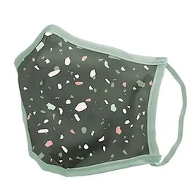 Talking Out of Turn Talking Out of Turn Face Mask - Terrazzo Green - Small