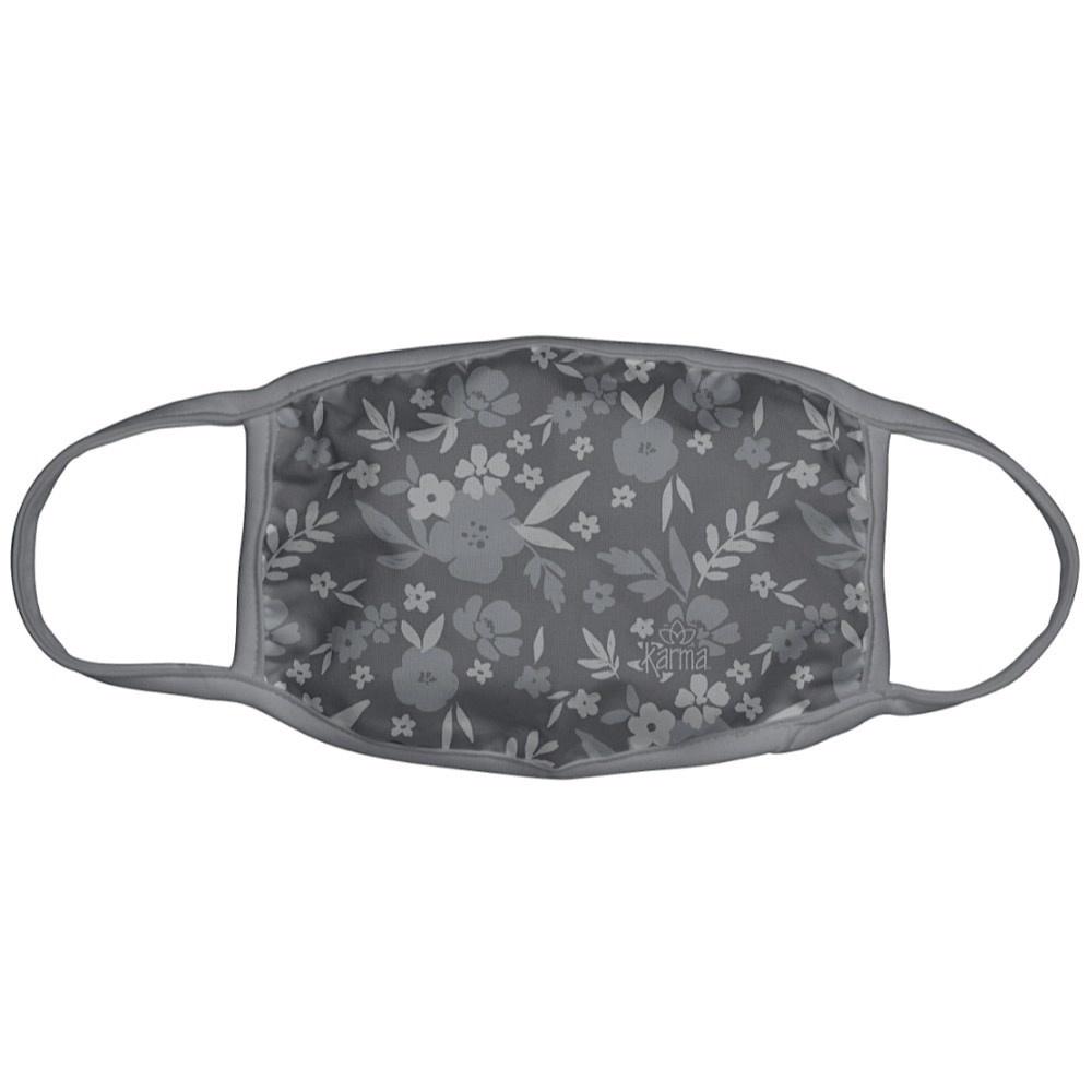 Karma Face Mask - Adult - Dark Grey Floral