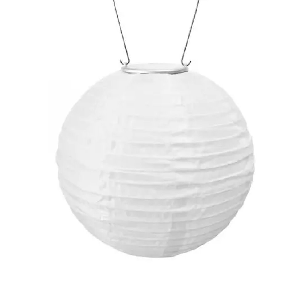 Soji Solar Lantern - 12″ - White with Warm LED