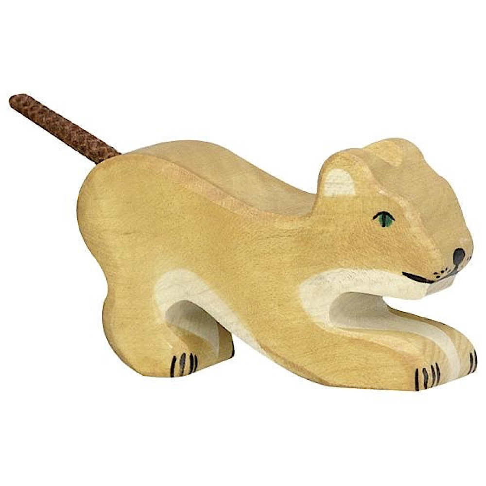 Holztiger Wooden Lion Small Playing